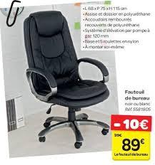 chaise a bureau de bureau carrefour