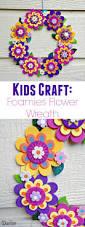 kids craft idea foamies flower wreath darice