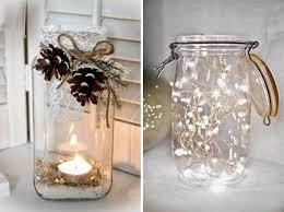 composizione di candele trasformare i barattoli in decorazioni natalizie barattoli di
