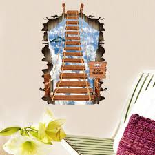 posters for home decor 3d stairs personality fashion creative ladder sky wall stickers