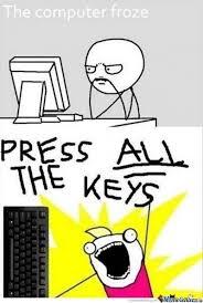 Meme At Computer - computer froze by snkieche meme center