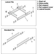 Lateral Filing Cabinet Rails File Cabinet Rail File Cabinet Rails For Hanging Files