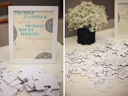 wedding sign in books top 5 wedding guest book alternatives puzzle pieces alternative