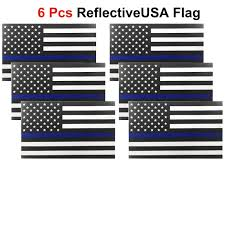Us Flag Decal 6 Pack Reflective American Us Flag Decal Sticker Vinyl Car Truck 5