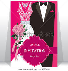 groom and groom wedding card wedding invitation card groom dress stock vector 420663496