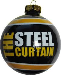pittsburgh steelers the steel curtain glass ornament