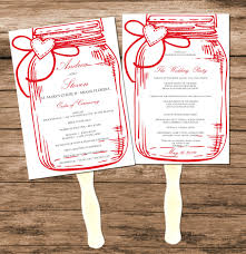 wedding program fan kits wedding programs diy hixathens