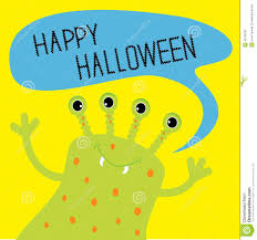 picture of happy halloween happy halloween card with cute monster royalty free stock