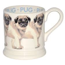 pug mug by emma bridgewater pottery made in england
