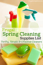 frugal spring cleaning supplies simple and effective cleaners
