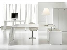 modern furniture white rectangular tanned leather executive desk