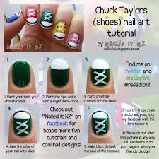 nail art for short nails 9 chuck taylors shoe nails