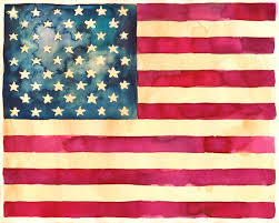 Jasper Johns Three Flags American Flag Clipart Rustic Pencil And In Color American Flag
