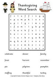 thanksgiving word search holidays thanksgiving
