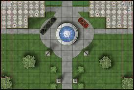 Heroclix Waine's Manor Map