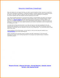 Example For Resume Title by 5 Resume Headline Example Resume Examples Templates The Best 10
