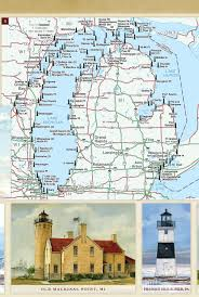 Chicago Ord Map by United States Lighthouses Illustrated Map U0026 Guide Bella Stander