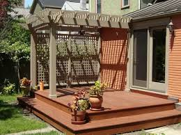 Pergola Backyard Ideas Backyard Small Decks With Pergola Backyard Small Decks Gallery