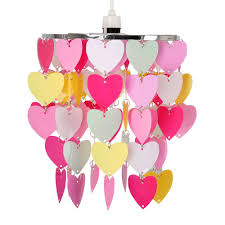details about modern girls bedroom pink red white hearts ceiling