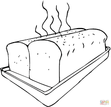 Fresh Bread On Baking Sheet Coloring Page Free Printable Bread Coloring Page