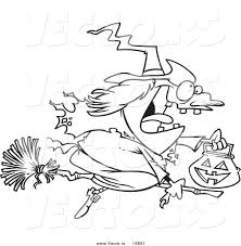 halloween witch on a broom coloring pages u2013 festival collections