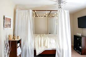 Diy Canopy Bed With Lights Diy Canopy Bed Frame King Size Canopy Bed Plans Rogue Engineer 2