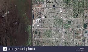 Fort Lauderdale Map Aerial Map View Above Development To Wetland Fort Lauderdale