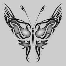 cool silver highlight tribal butterfly design tattoomagz
