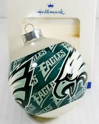 nfl philadelphia eagles football team logo hallmark christmas tree