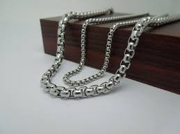 titanium link necklace images High quality men 39 s fashion punk rock styles titanium steel jpg