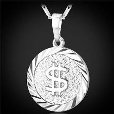 hip hop necklace images Buy coin hip hop necklace us dollar pendant fashion jewelry silver jpg