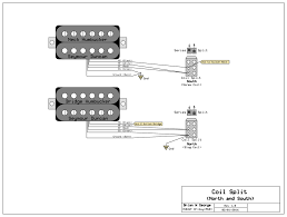 splitting 2 three wires humbucker with one 2 way toggel switch