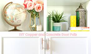 a kailo chic life diy it copper and concrete door pulls
