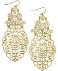 Colorful Chandelier Earrings Bar Iii Gold Tone Filigree Chandelier Earrings Only At Macy U0027s