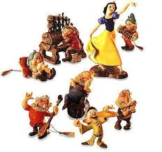 wdcc snow white and the seven dwarfs ornament set 1204380 from the