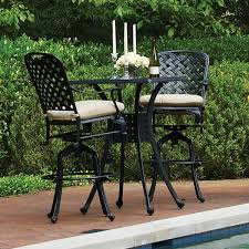 High Patio Dining Sets Hampton Bay Rehoboth 3 Piece Wicker Outdoor Bar Height Dining Set