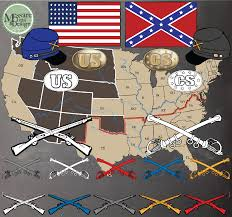Confederate States Map by Civil War Clip Art U0026 Map Set Messare Clips And Design Civil