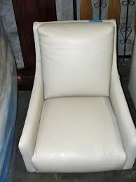 White Leather Accent Chair Off White Leather Accent Chair No Legs