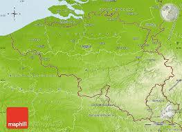 belgium in the map physical map of belgium