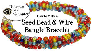 make beaded bracelet wire images How to make a seed bead wire bangle bracelet jpg