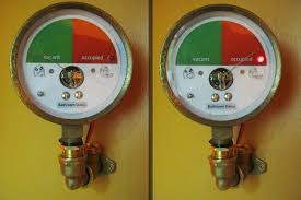 Bathroom Occupied Indicator Repurposed Pressure Gauge Bathroom Door Indicator