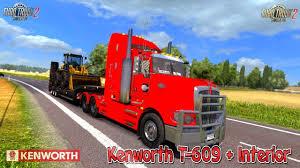 kenworth k series kenworth t 609 interior by rta team 1 28 x for ets 2 euro