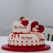 write name on happy anniversary cakes online free wishes