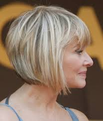 latest short haircuts for women over 50 angled bob hairstyles