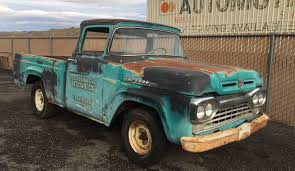 Ford Old Pickup Truck - big window 1960 ford f 100 parts truck