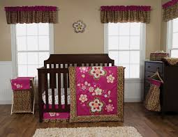 Animal Print Crib Bedding Sets Berry Color Leopard Print 3 Pc Crib Bedding Set Baby Care