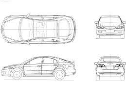Blue Print Size by Blueprint Outlines Mazda6 5 Door Hatchback 2006 Mazda 6 Forums