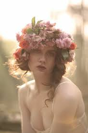 flower headpiece beautiful boho bridal flower crowns chic vintage brides