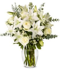 Lilly Flowers With All Our Sympathy Lily Arrangement At From You Flowers