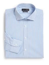 ralph lauren black label classic fit striped dress shirt in blue